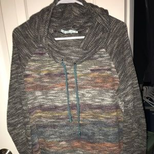 Maurice's Sweater Cowl Neck Sweater Grey Size XL